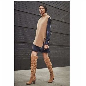 Sam Edelman Leather Sable Over The Knee Boots